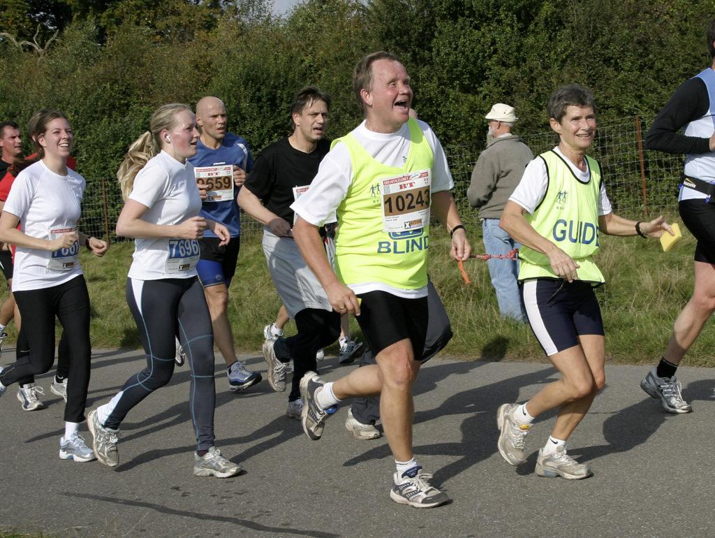 Billede af Sven, der løber Erimetageløbet.