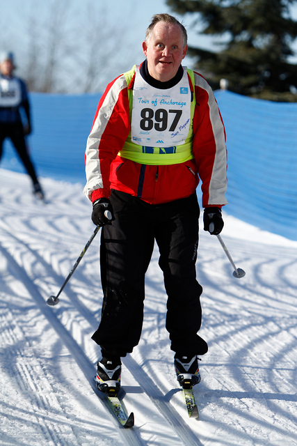 Billede af Sven på ski